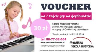 Voucher na lekcję gry na keyboardzie